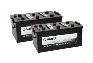 Pair Of 627 Varta Commercial Batteries (I8) (620045068)-0