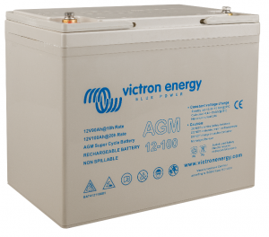 12v Victron Energy 100AH Super Cycle AGM Battery - BAT412110081-0