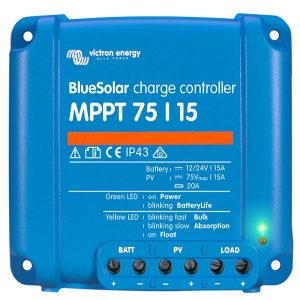 Victron Energy BlueSolar MPPT Solar Charge Controller 75/15A – SCC010015050-0